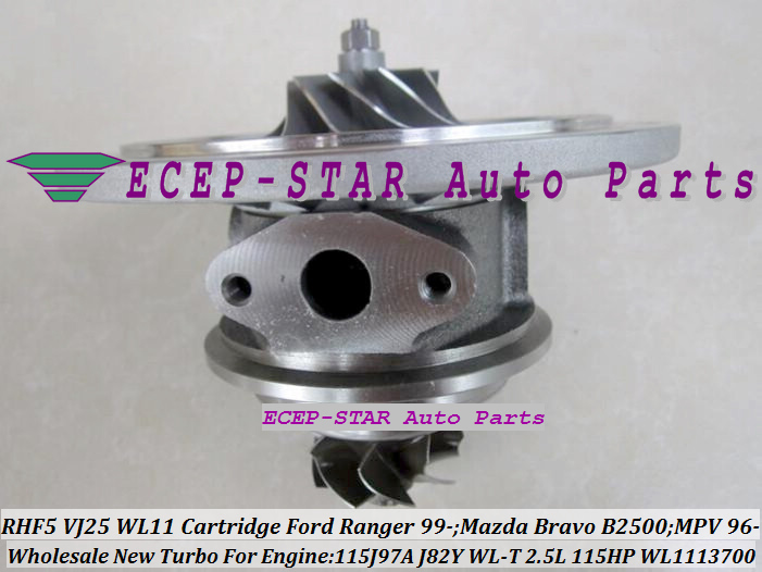 RHF5 VJ25 VB430012 WL1113700 Turbo CHRA Cartridge Turbocharger Core FORD Ranger MAZDA Bravo B2500 MPV 115J97A J82Y WL-T 2.5L 109HP 115HP