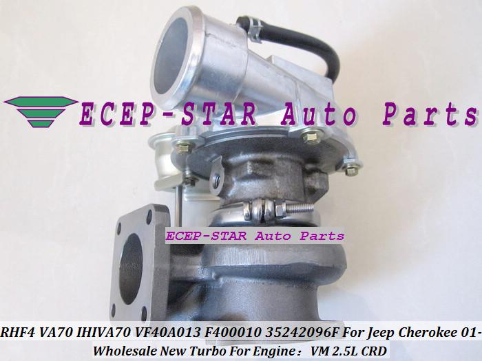 RHF4 VA70 IHIVA70 VF40A013 F400010 35242096F Turbo Turbine Turbocharger For Jeep Cherokee 2.5L CRD VM 2001- (3)