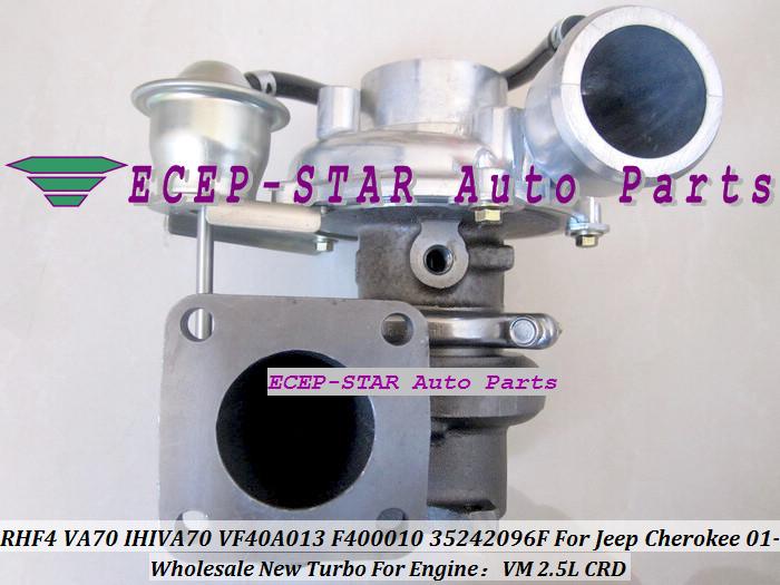 RHF4 VA70 IHIVA70 VF40A013 F400010 35242096F Turbo Turbine Turbocharger For Jeep Cherokee 2.5L CRD VM 2001- (2)