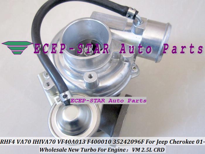RHF4 VA70 IHIVA70 VF40A013 F400010 35242096F Turbo Turbine Turbocharger For Jeep Cherokee 2.5L CRD VM 2001-