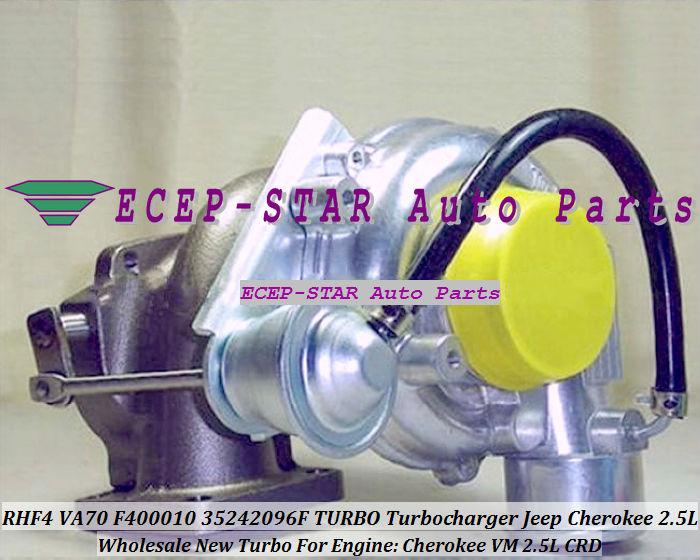 VA70 F400010 35242096F Turbo Turbine Turbocharger For Cherokee VM 2.5L CRD