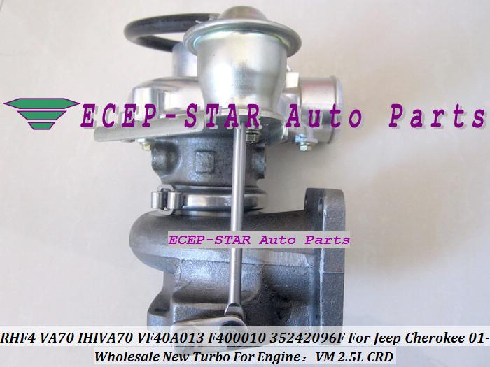 RHF4 VA70 IHIVA70 VF40A013 F400010 35242096F Turbo Turbine Turbocharger For Jeep Cherokee 2.5L CRD VM 2001- (1)