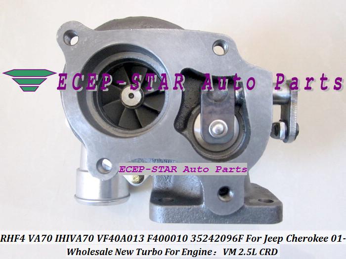 RHF4 VA70 IHIVA70 VF40A013 F400010 35242096F Turbo Turbine Turbocharger For Jeep Cherokee 2.5L CRD VM 2001- (5)