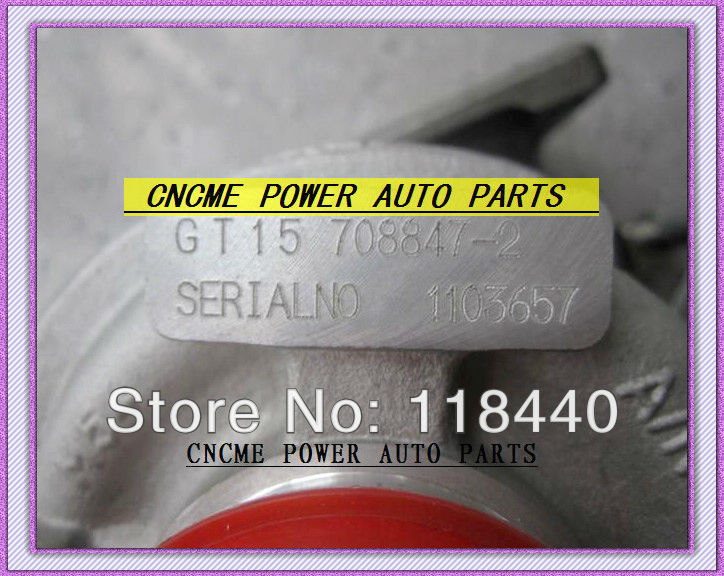 GT1544S 708847-5002S 708847-0001 Turbo TURBINE Turbocharger For ALFA Romeo 147 FIAT Doblo Engine M724 M724.19 1.9L 105HP (4)