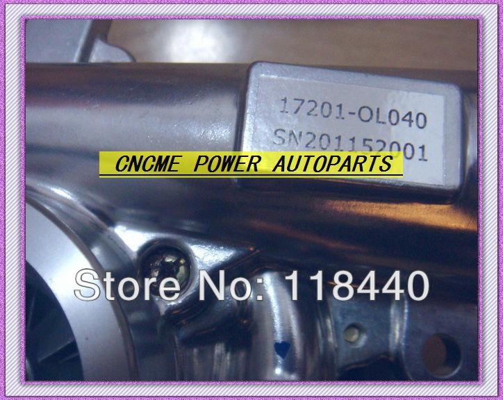 CT16V 17201-OL040 17201-0L040 17201-30160 turbo turbocharger for Toyota Hilux 3.0LD ViIGO3000 engine 1KD-FTV (5)