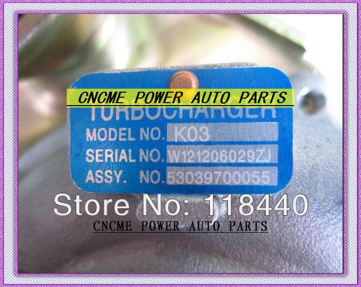TURBO K03 53039700055 53039880055 Turbocharger For Interstar Renault Master Opel Movano 2.5L dCi 115HP G9U G9U720 (1)