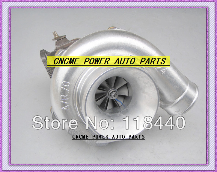 GT30 GT3076 GT3076-1 No valve Turbo Turbocharger T25 flange AR .70 AR .86 wastegate water and oil cooled V Band with gaskets (4)