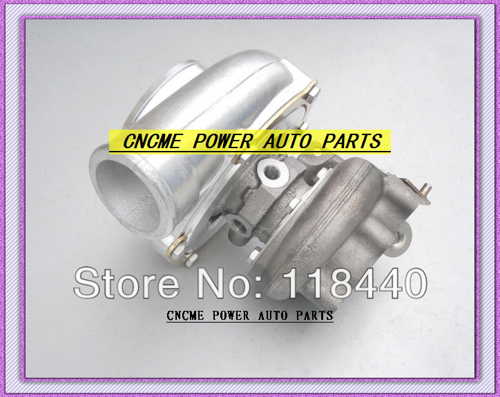 GT30 GT3076 GT3076-1 No valve Turbo Turbocharger T25 flange AR .70 AR .86 wastegate water and oil cooled V Band with gaskets (3)