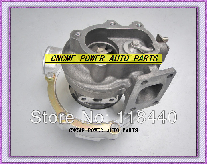GT30 GT3076 GT3076-1 No valve Turbo Turbocharger T25 flange AR .70 AR .86 wastegate water and oil cooled V Band with gaskets (2)