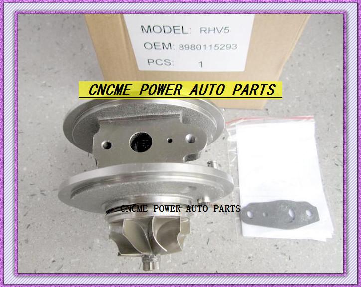 Turbocharger Turbo Cartridge CHRA RHV5 VIEZ 8980115293 8980115294 For ISUZU D-MAX 3.0L CRD 07 Rodeo Colorado 4JJ1T 4JJ1-TC 163HP (1)