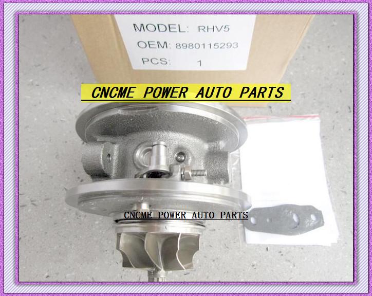 Turbocharger Turbo Cartridge CHRA RHV5 VIEZ 8980115293 8980115294 For ISUZU D-MAX 3.0L CRD 07 Rodeo Colorado 4JJ1T 4JJ1-TC 163HP (2)