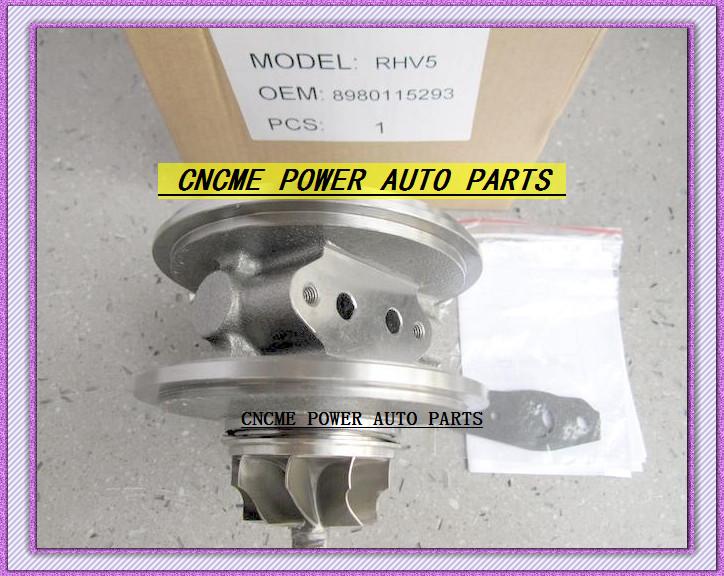 Turbocharger Turbo Cartridge CHRA RHV5 VIEZ 8980115293 8980115294 For ISUZU D-MAX 3.0L CRD 07 Rodeo Colorado 4JJ1T 4JJ1-TC 163HP (3)