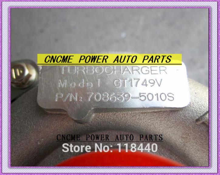 GT1749V 708639-5010S 708639 turbocharger Renault Laguna Megane Scenic Volvo V40 Nissan Primera 1.9L dci 115HP 120HP F9Q D4192T3