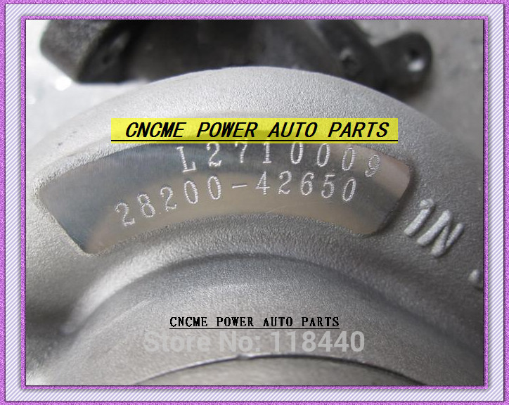 TURBO TF035 49135-04302 49135-04300 28200-42650 Turbine Turbocharger For HYUNDAI Commercial Starex H1 D4BH 4D56 A-1 2.5L TD 99HP (2)