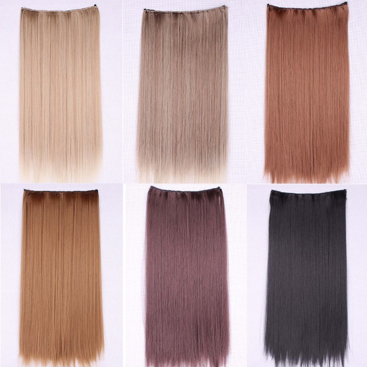 Womens Hair Pieces Female Synthetic Hair Extensions Clip In