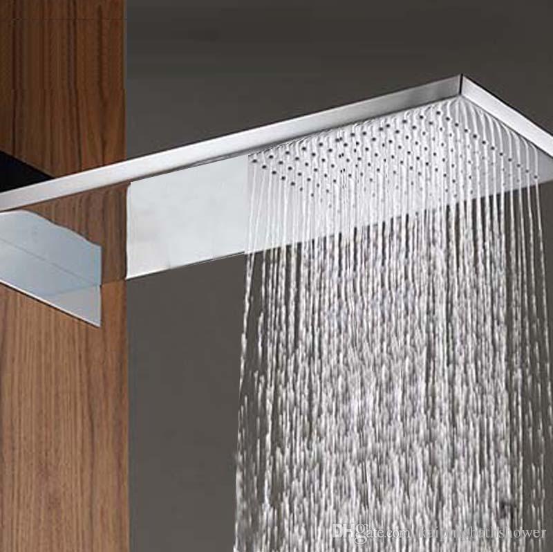 Best Rainfall Waterfall Shower Head230*554*30mm Luxury Wall Mounted ...