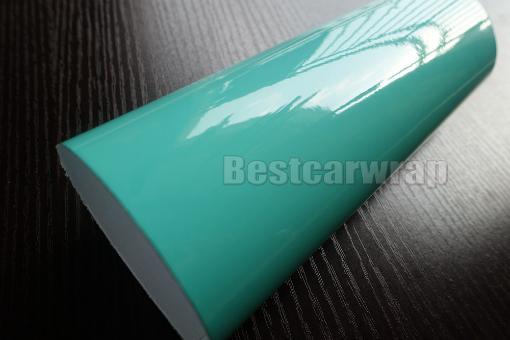 tiffany blue ultra high Glossy Car wrapping film 3 layers candy foile 3M 1080 HEXIS (4)