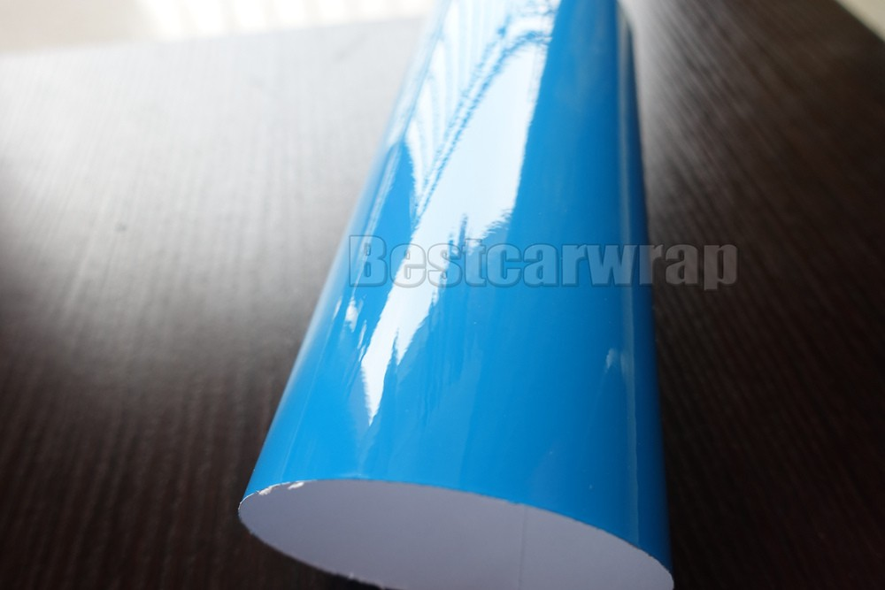 Azure bABY BLUE SKY BLUE ULTRA Glossy Resin Pearl car wrapping film 3M 1080 GLOSS SHINY CARBON FIBRE HEXIS (9)