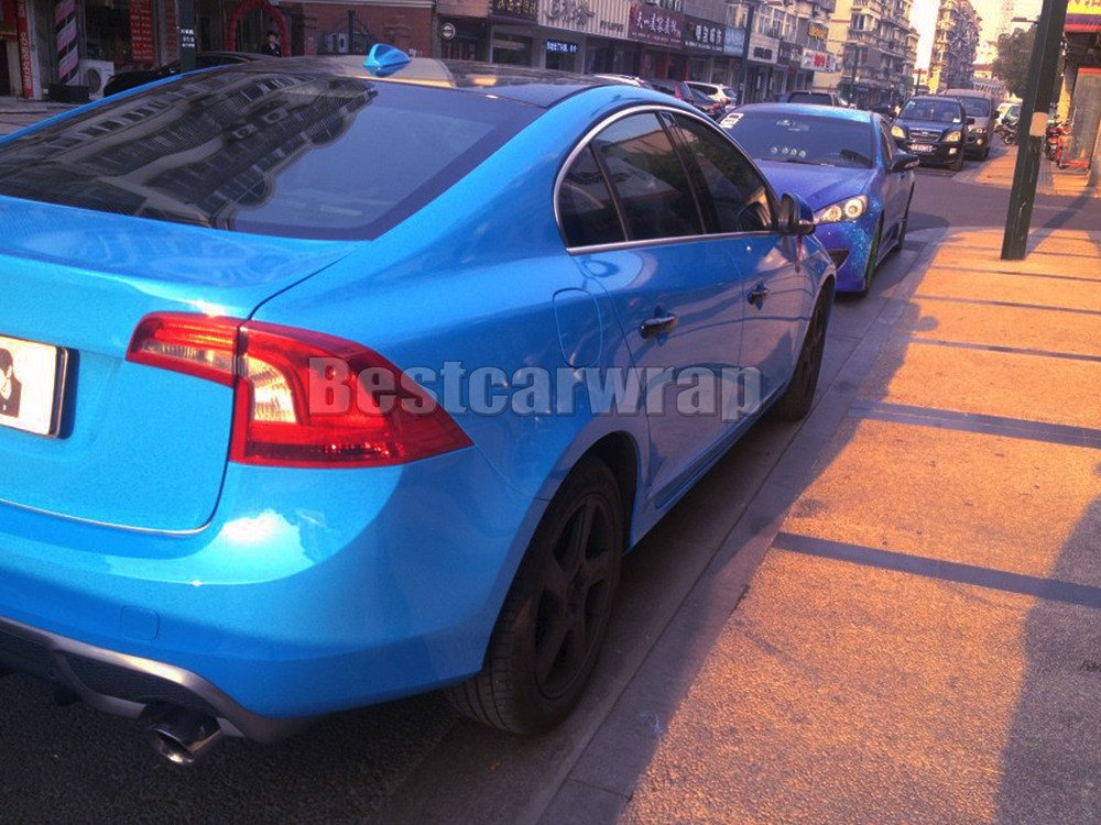 azure baby blue glossy car wrapping film (1)
