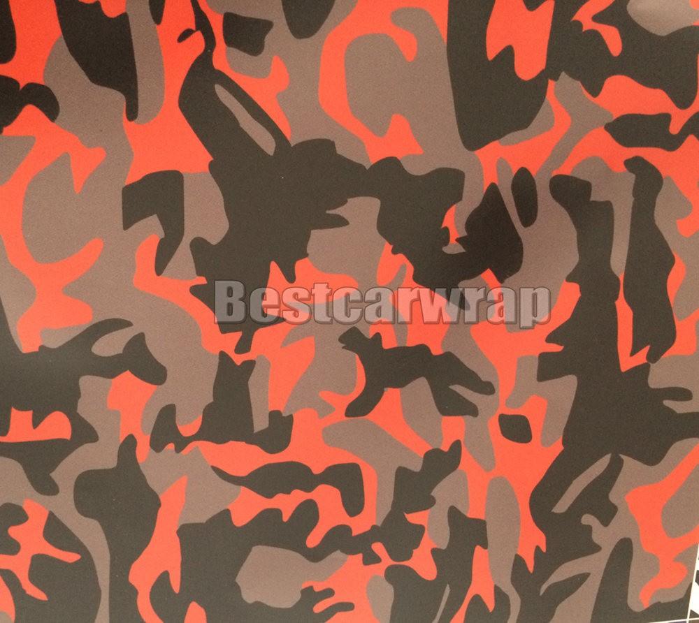 black red grey camo car wrap film arctic camo 3m printed vinyl sheets (4)