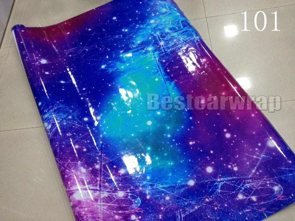 Galaxy Stickerbomb Starry sky Vinyl Car Wrap sticker (1)