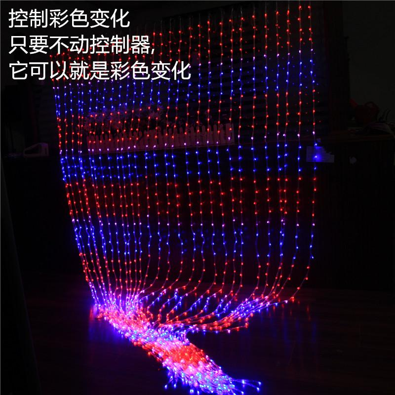 Multi 3m x 3m Christmas Wedding Party Background Holiday Running Water Waterfall Water Flow Curtain LED Light String 336 Bulbs