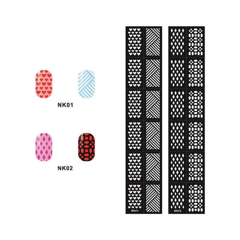 New Flower Stamping Nail Art Hollow Templates Airbrush Stencils StickersReusable Stamp Plates Template Guide DIY Tools