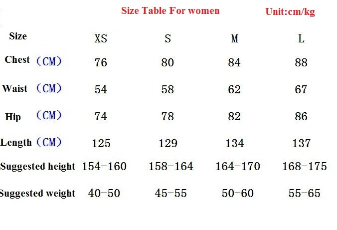 size for women