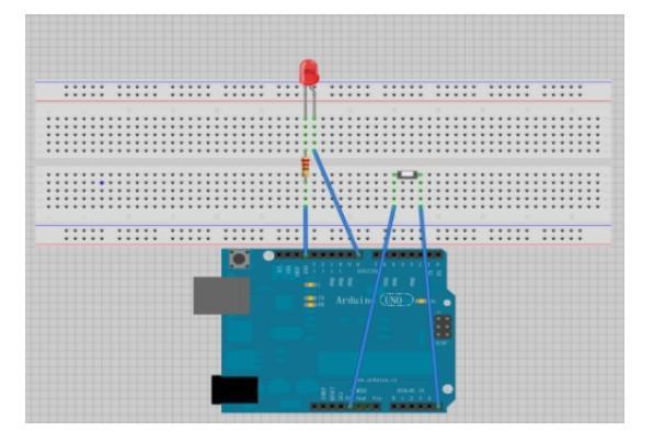 Minimal Arduino Breadboard Circuit - Asurekazani