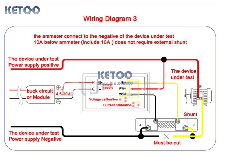 amp meter wiring diagram amp image wiring diagram digital voltmeter ammeter wiring diagram jodebal com on amp meter wiring diagram