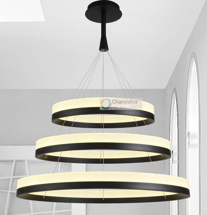 Two sizes modern contemporary 2 rings pendant light ceiling lamp smt6 mozeypictures Gallery