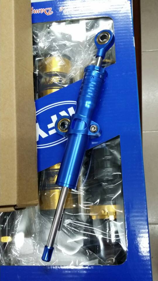 Universal Adjustable Motorcycle Steering Damper Stabilizer 9 steps blue 5