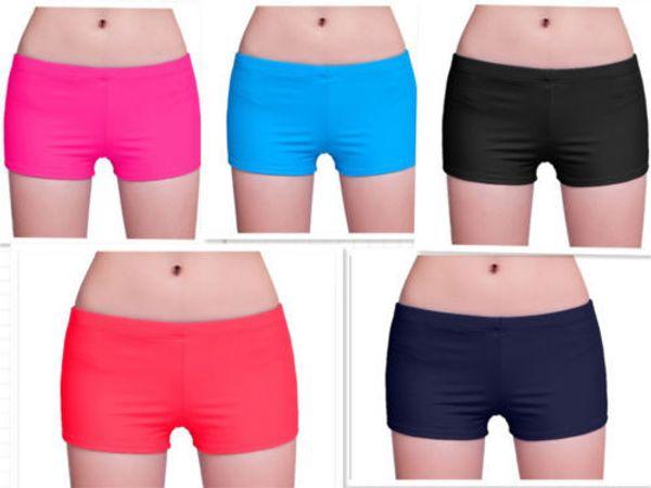 b19d5dee7d 2019 Wholesale Women Ladies Plain Swim Shorts Bikini Swim Boy Style ...