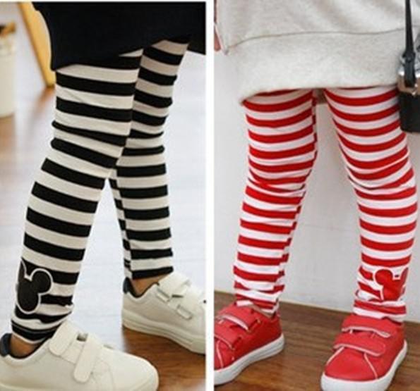 Wholesale Girls Red Black White Striped Legging Kids Mickey Stripe Leggings  Casual Kids Dress Pants Casual From Bradle, $30.93| Dhgate.Com - Wholesale Girls Red Black White Striped Legging Kids Mickey Stripe