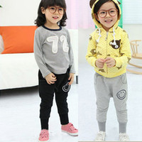 Wholesale Jogger Pants For Kids - Wholesale-Toddler Kids Pants for Girls 1-6Y Smile Pattern Harem Pants Cotton Trousers Casual Bottoms Joggers Freeshipping