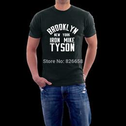 Wholesale Famous World - Wholesale-Mike Tyson Shirt Men Custom T Shirt Famous World Boxing Athlete Iron Mike Tyson t-shirt Leisure men cotton T-shirt