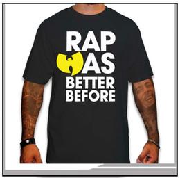 Wholesale Wu Tang Clan T Shirts - Wholesale- NEW WU TANG CLAN BLACK MENS T SHIRT RAP WAS BETTER BEFORE CLASSIC HIP HOP RZA