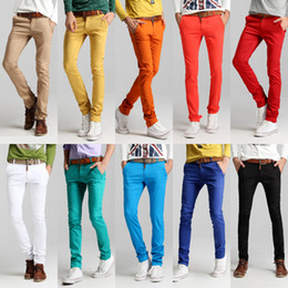 Wholesale Mens Colorful Pants - Wholesale-Fabric excellent ! High quality 2015 mens colorful small feet pants casual trousers Stylish harem pants 10 colors