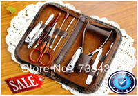 Wholesale Set Gift Gel - Wholesale-Crazy price! Nail Care Set Utility Nail Clipper Kit Stainless Steel Manicure Set Tools +Free Gift