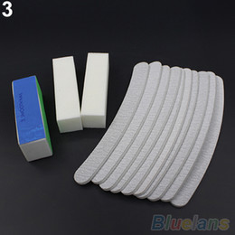 File Blocks Canada - Wholesale-13PCS Nail Art Sanding Files Buffer Block Manicure Pedicure Tools UV Gel Set 1U8E