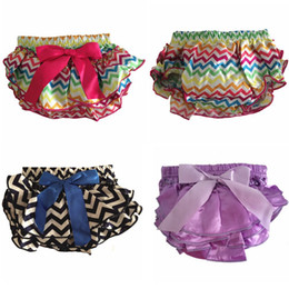 Jupe Courte Petite Fille Pas Cher-Gros-bébé Bloomers Summer Girl Ruffle Shorts Layers Infant Diaper Cover Newborn Vêtements Toddler Mignon Satin Pant avec jupe Free Ship