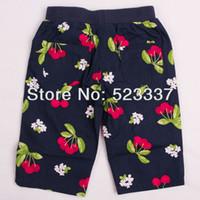Wholesale Nova Kid Wear Girl Flower - Wholesale-FREE SHIPPING M3800# 18m-6y 5pieces  lot NOVA kids wear printed many beautiful flowers hot summer short pants for baby girls