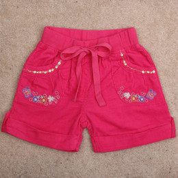 Wholesale Nova Kid Wear Girl Flower - Wholesale-baby & kids clothing shorts for girls new 2015 nova brand summer baby girl casual wear with button and Embroidery flower