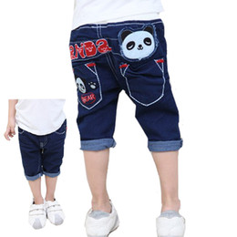 Wholesale Cute Jeans For Boys - Wholesale-Kids summer shorts children cute panda pants boys casual pants children trousers jeans for boys 2015 hot selling free shipping