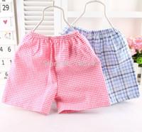 Wholesale Wholesale Seersucker Shorts - Wholesale-2015 new Summer cool plisse  blisger crepe seersucker cotton Infant&Toddler baby shorts pants for girls&boys kids children