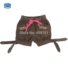 Wholesale Nova Kid Wear Girl Flower - Wholesale-new 2015 nova brand baby & kids clothing shorts for girls summer baby girl casual wear with pockets and Embroidery flower