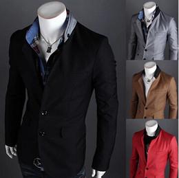 Wholesale beige color for mens suits - Wholesale-Male Suit New Design Mens Brand Blazer Jacket Coats Casual Slim Fit Stylish Blazers For Men ZHY573