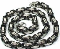 kette 316l 9mm großhandel-heißer verkauf mode neue byzantinische kette 316L edelstahl 24 '' riesige 9mm Link Ketten Halskette, herren geschenke