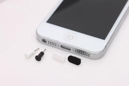 Wholesale Dust Plug Socket - Wholesale-Freeshipping Dust Cap for iPhone 5 5G 500pcs earphone jack plug+ 500pcs charger socket=total 1000pcs
