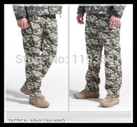 Wholesale Acu Trousers - Wholesale-ACU Men's Shell Soft Waterproof Outdoors Army Camouflage Pants Shark Skin Sports Thermal Military Camo Hunting Fleece Trousers